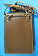 Vintage Russian military Map Case Soviet officer Pad leather folding bag USSR