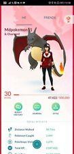 Pokémon Go account shiny charizard shiny roggenrola reshiram zekrom kyogre