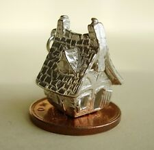 BEAUTIFUL SILVER  HAUNTED HOUSE OPENING CHARM CHARMS HALLOWEEN