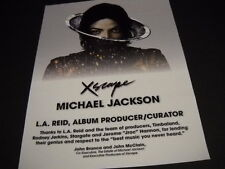 MICHAEL JACKSON Xscape ...the best music you never heard 2014 PROMO POSTER AD