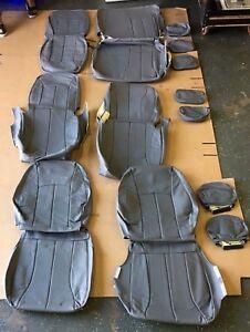 Katzkin Leather Cover Seats - 5 Dodge Caravan, Chrys Town & Country Stow & Go.