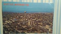 VINTAGE AIR VIEW OVER SEATTLE POST CARD  SO BEAUTIFUL SEATTLE WASHINGTON  1975