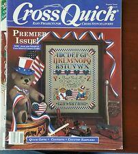 CROSS QUICK Magazine Premier Issue Patriotic Sampler Bear