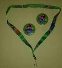 Original 2015 M&M's 2 Buttons and a Lanyard