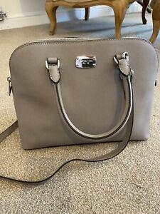 Michael kors Grey Saffiano Leather Tote Handbag With Shoulder Strap