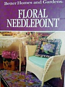 Needlepoint Tapestry Book By Better Homes & Gardens Floral  Victorian Designs