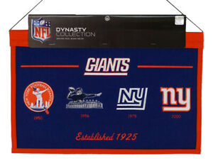 New York Giants NFL LARGE 22x14 Banner featuring logos from 1950,1956,1975,2000