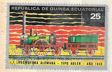 Highest Value from 1972 set - Train stamp - Guinea Ecuatorial -  see scan