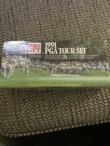 Vintage PGA Tour Pro Set Trading Cards New Sealed 285 Cards Box 1991