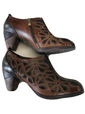 L'Artiste Spring Step Arabella Brown Leather Ankle Boots Daisy Size 40