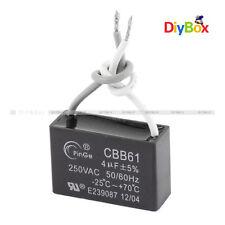 CBB61 4UF AC 250V Rectangle Non Polar Motor Strating Capacitor