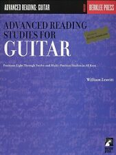 Advanced Reading Studies For Guitar Guitar Sheet Music Study