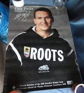 ROOTS Official 1998 Nagano Olympic POSTER ELVIS STOJKO Figure Skater Canada