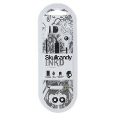 New Skullcandy INK'D Black White Supreme Sound Headphones w/ Mic And Remote