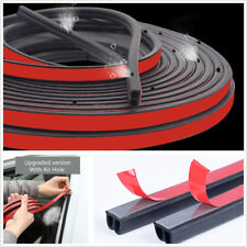 B-Type Upgraded 5M Car Door Seal Strip Sound Insulation Rubber w/ Air Bleed Hole