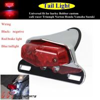Lucas Style Motorcycle Tail Light Assembly For Harley-Davidson Bobber Cafe Racer