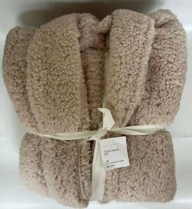 Pottery Barn NEW Large Teddy Bear Bath Robe Plush Cozy Soft Warm Sherpa Blush