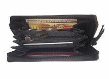 Spikes & Sparrow Avery East West Ladies Wallet RFID in Dark Brown