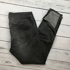 Madewell Skinny Jeans Size 31 Womens Ankle Zippers Gray Stretch Denim Distressed