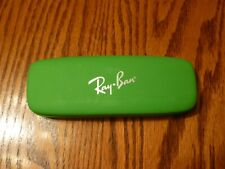Ray Ban Eyeglass Case Clamshell Green Faux Leather Hard Small Case Only Youth