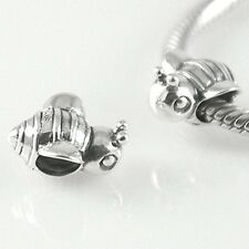 BEE bumblebee - Animal - Insect - Solid 925 sterling silver European charm bead