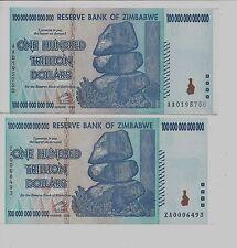 Over Size ERROR 1X 100 TRILLION ZIMBABWE DOLLAR MONEY CURRENCY.VF *10 20 50*