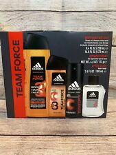 ADIDAS Men's Team Force 4 Piece Gift Set Fragrance Spray After Shave Deodorant