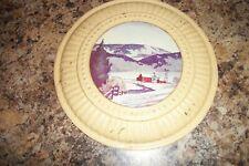 Vintage Stove Chimney Pipe Flue Cover Wall Art - Winter Scene 8''