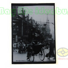 """Matted 8""""x6""""old photograph Street View of Nanking Road of Shanghai before 1940s"""
