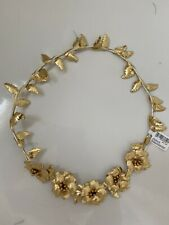 Gold Leaf Floral Headband Claire's Accessories