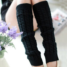 Womens Over Knee High Leg Warmers Winter Knitted Long Boot Socks Stockings New