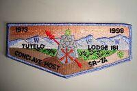 OA TUTELO LODGE 161 BLUE RIDGE COUNCIL PATCH 1998 CONCLAVE HOST SR-7A FLAP