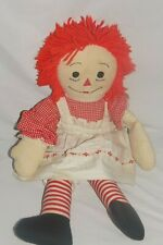 Vintage Hand Made Raggedy Ann With Tag 24 Inch by Winnice Spencer