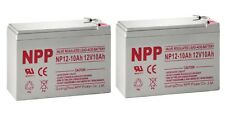 NPP 12V 10Ah Lead Acid Battery for Schwinn, Mongoose Electric Chair / Pack 2