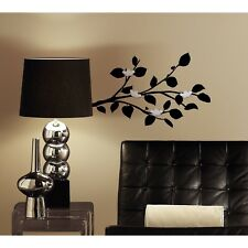 Black Branches Flower Mirrors Wall Decals Room Decor Stickers Modern Leaf Branch