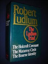 The Borne Identity/Holcroft Covenant/Matarese Circle Robert Ludlum 1st Ed HC/DJ