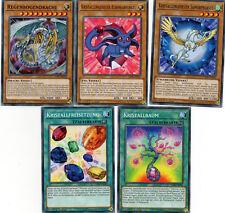 Yu-Gi-Oh! 5 Karten Kristallungeheuer-Set LED2-DE Regenbogendrache, Pegasus
