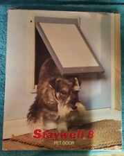 New-Staywell 8 Small White Magnetic Hard Flap Pet Door Dog/Cat 2-Way Doggie Door