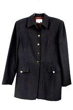 EMANUEL UNGARO Brown 100% Wool  PANTS SUIT Military Style  6/40 '70s Korea Women