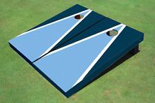 Unc Blue And Navy Matching Triangle Custom Cornhole Board
