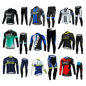 Sports Bicycle Bike Cycling Clothing Long Sleeve Jersey Long Pants Set