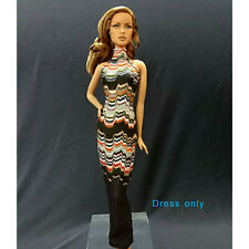 "Handmade~Doll dress for 12""Doll~ Barbie,Fashion Royalty Silkstone #B0017-001051"