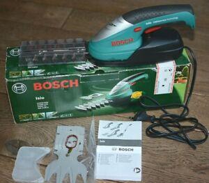 Bosch Isio 3,6V Lithium-Akku Gras-Strauch-Schere TOP m. Ladegerät 2. Einsatz Set