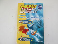 MICKEY PARADE GEANT N°302 BE/TBE ECRITURES SUR COUVERTURE