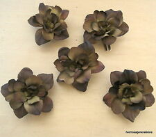 """5 Piece Lot 2.5"""" Brown Apple Blossoms Flower Hair Clips,Wedding,Dance,Prom"""