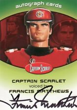 Captain Scarlet Francis Matthews as the Voice of Captain Scarlet CSA1 Auto Card