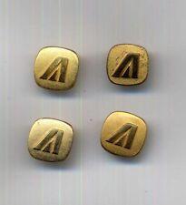 ALITALIA airline crew uniform flight HOSTESS 4 small BUTTON no wing badge pin aa