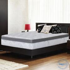 "SLEEPLACE 13"" Euro Box Memory Foam Top Spring Mattress, Bed,"