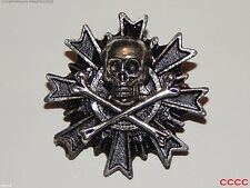 steampunk brooch badge skull & crossbones pirate Assassin's creed black sails