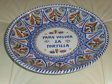 Spanish Omelette Pottery Flipper/Server